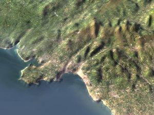 relief wales terrain 3d model