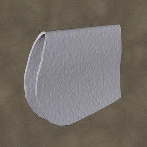 3d model dressage pad zipped