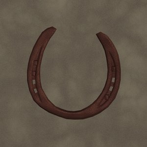 3d model horseshoe old zipped