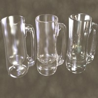 3d glass mugs zipped model