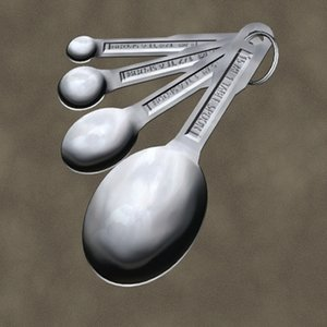 measuring spoons zipped 3d max
