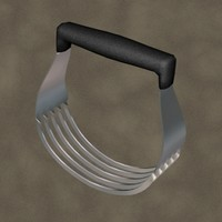 3d model of pastry cutter zipped
