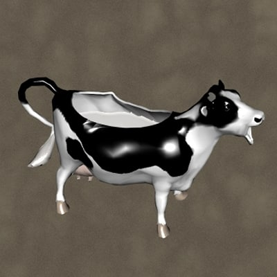 3d cow pitcher zipped model