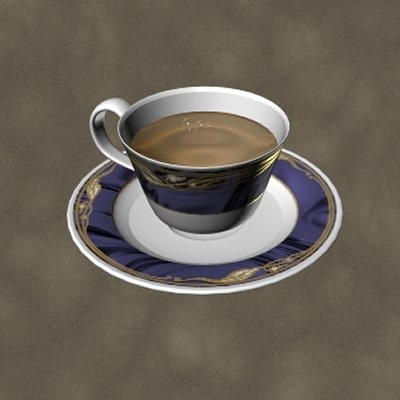 dxf china tea cup zipped