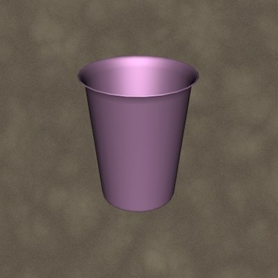 metal cup zipped 3d 3ds