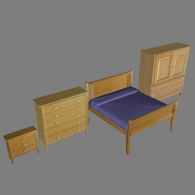 bayshore chest nightstand bed 3d max
