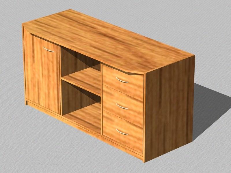 cinema4d dresser furniture