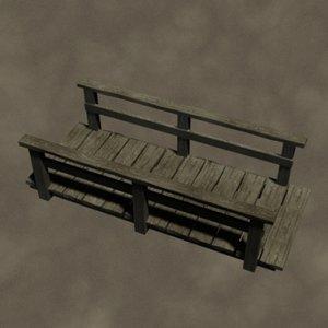 foot bridge zipped 3d model