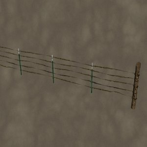 3d barbed wire fence zipped