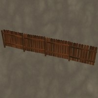 3d dxf wooden fence zipped