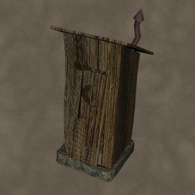 3d outhouse zipped
