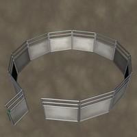 3d model bullpen zipped