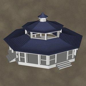 3d model of pavillion zipped