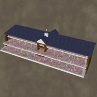 grandstands zipped 3d model