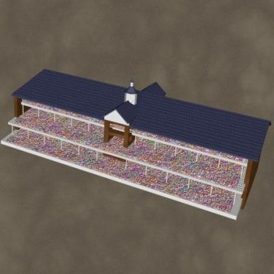 grandstands zipped 3d model