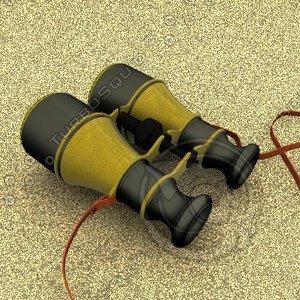 antique binoculars 3d model