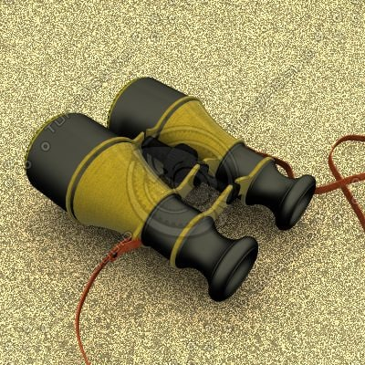 antique binoculars 3d model