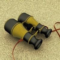 3dsmax antique binoculars