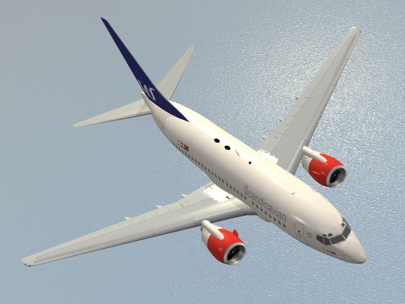 b 737-600 3d model