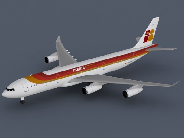 3ds airbus a340-300 iberia a340