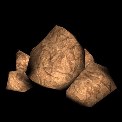 rocks boulder 3d model