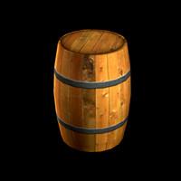 3d model wood barrel w3d
