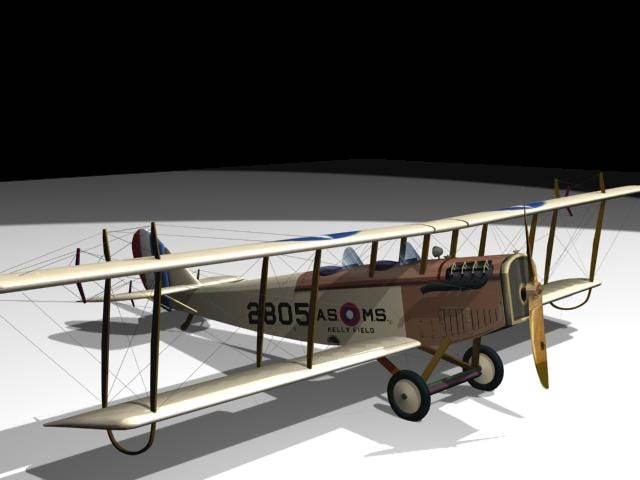 curtiss jenny 3d model