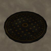 3ds max manhole cover zipped