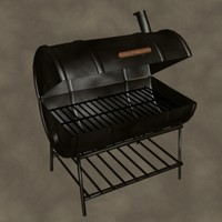 3d model drum smoker zipped