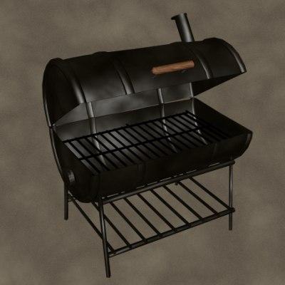 3d model drum smoker zipped