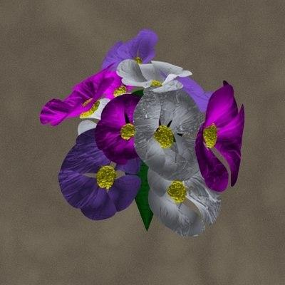 3d bouquet zipped model