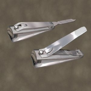 3d model nail clippers zipped