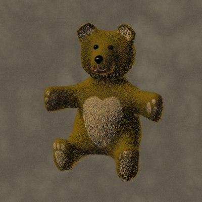 teddy bear zipped 3d max