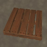 wood pallet zipped 3d max