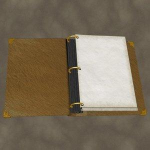 photo album open 3d model