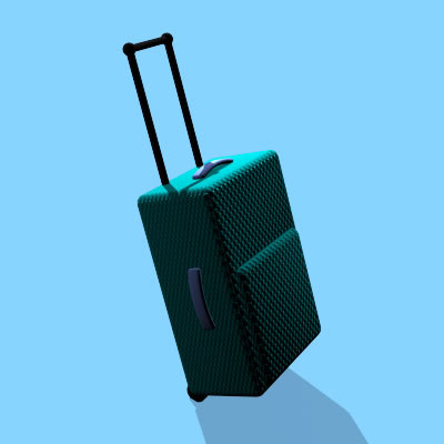 carry-on suitcase dxf free