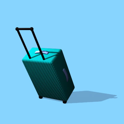 free carry-on suitcase 3d model