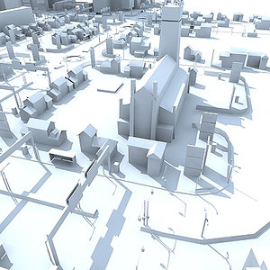 3d model city pack building road