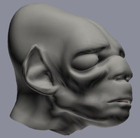 troll creature head 3d max