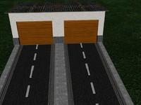 3d garage building model