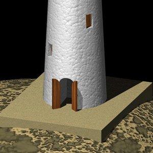 3d lighthouse fresnel
