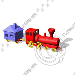 toy choochoo train dxf