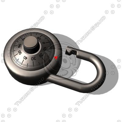 combination lock dxf