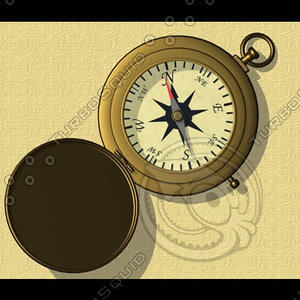 compass antique brass 3d dxf