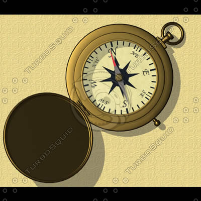 compass antique brass 3d dxf