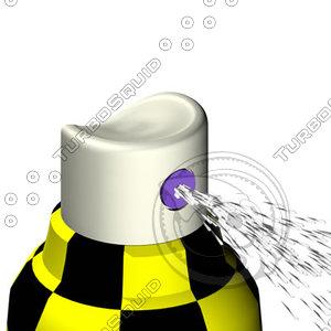 spray bottle 3d dxf