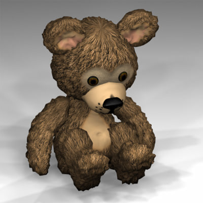 3dsmax teddy teddybear zipped