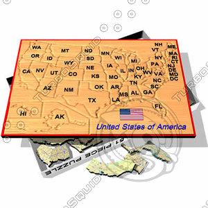 max puzzle board usa