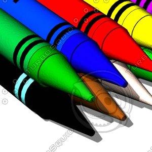 3d model crayon s color