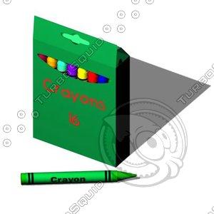 crayon box color 3d model